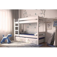 מיטת קומותיים לילדים עץ מלא