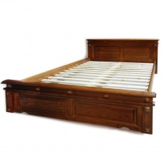 Luxurious double bed hard wood
