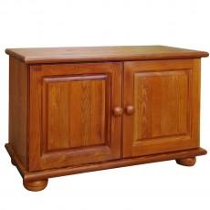 שידה מעץ מלא 2 דלתות ומדף פנימי עץ מלא דגם 324