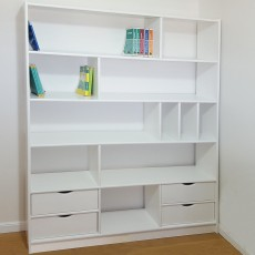 A huge solid wood library model 706L