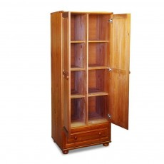 ארון מעץ מלא 2 דלתות ומגירה גדולה דגם 21