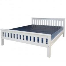 מיטה זוגית עץ מלא צבע לבן דגם סנטינו 2