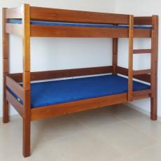מיטת קומותיים לילדים מעץ מלא דגם 521