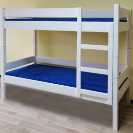 מיטת קומותיים לילדים מעץ מלא דגם 521L
