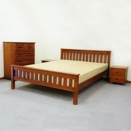 חדר שינה מעץ מלא דגם סנטינו