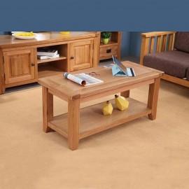 שולחן סלוני מעץ אלון מלא דגם נאפולי