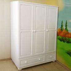 ארון 3 דלתות 2 מגירות עץ מלא דגם 32