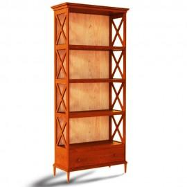 ספרייה מעוצבת עץ מלא עם מגירה דגם E36