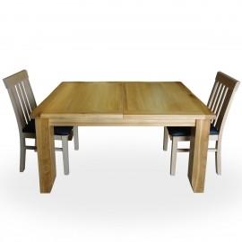 שולחן אוכל מעץ מלא אלון נפתח