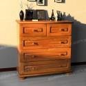 Designed Komodo dresser solid wood drawers 5 - Brown