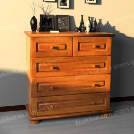 Designed Komodo dresser solid wood drawers 5 - Brown
