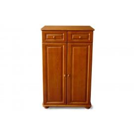 שידה מעץ מלא - שידה יוקרתית 2 מגירות ו2 דלתות