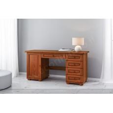 שולחן כתיבה מפואר עץ מלא צבע אגוז דגם 3026