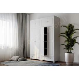 ארון 4 דלתות ו2 מגירות גדולות עץ מלא דגם 442L