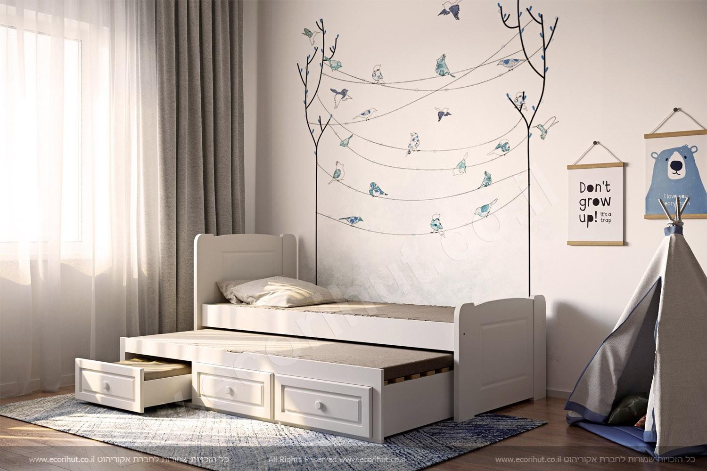 רהיטים מעץ מלא, ריהוט מעץ מלא, מיטות מעץ מלא, מיטת ילידים מעץ מלא, מיטת ילדים עם מגירות, מיטת נוער מעץ, детская кровать, детская кровать из дерева,