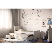 מיטות מעץ מלא לילדים