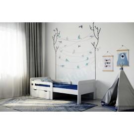 חדר שינה עץ מלא - מיטת ילדים מתכווננת עץ מלא דגם 710L