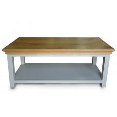 שולחן סלוני מעץ אלון מלא דגם פריז