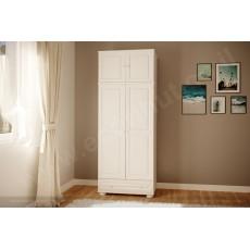 ארונות מעץ מלא - ארון 2 דלתות ומגירה גדולה עץ מלא צבע לבן