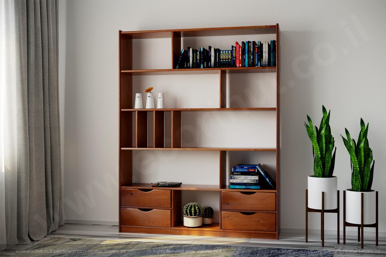 мебель в израиле, библиотека из дерева, стеллаж из дерева, ספרייה מעץ מלא, ספרייה מעץ, רהיטים מעץ מלא, ריהוט מעץ מלא, ריהוט מעץ, ספריה מעץ, כוורת מעץ מלא,
