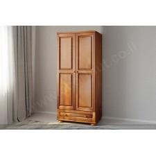 ארון 2 דלתות ומגירה גדולה עץ מלא דגם 21