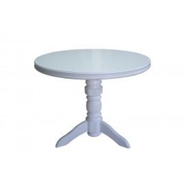 שולחן כתיבה 3 מגירות ומדף עץ מלא לבן דגם 307