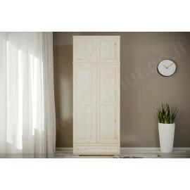 ארון 2 דלתות ומגירה גדולה עץ מלא צבע טבעי